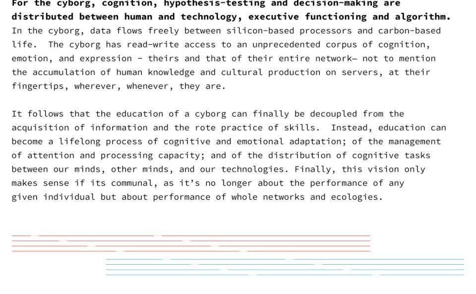 CyborgEDU Manifesto